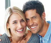 Couple smiling  with confidence