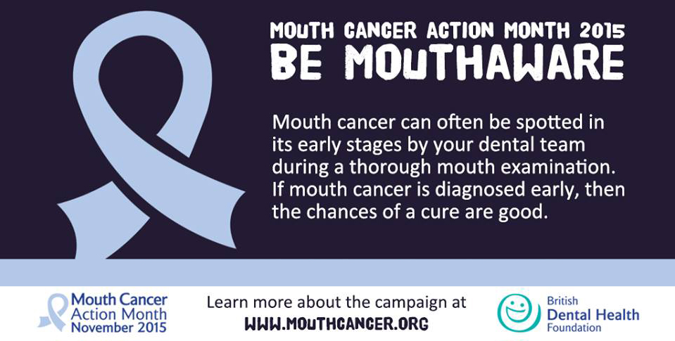 Be Mouth Aware - We Support Mouth Cancer Awareness Month at Bridge Dental in Marlow Bucks
